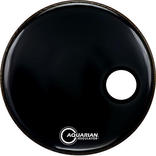 Aquarian Regulator Black Resonant Kick Drumhead Black 24 in.
