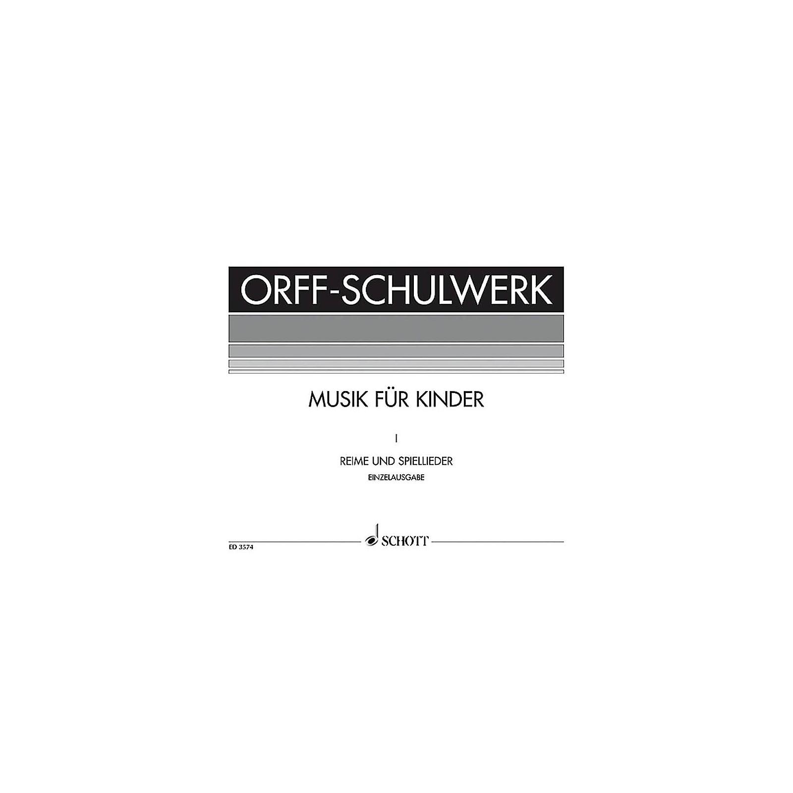 Schott Reime Und Spiellieder (German Language) Schott Series Composed by Carl Orff