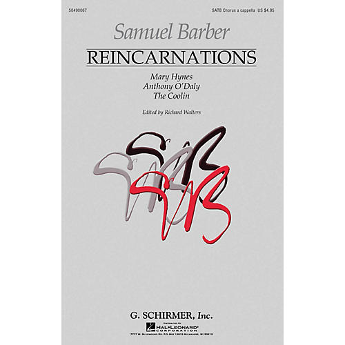 G. Schirmer Reincarnations - Complete Edition (Mary Hynes·Anthony O'Daly·The Coolin) SATB a cappella by Samuel Barber