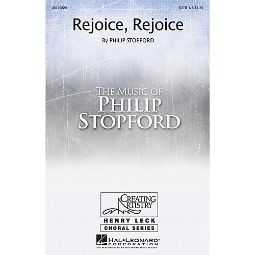 Hal Leonard Rejoice, Rejoice SATB composed by Philip Stopford