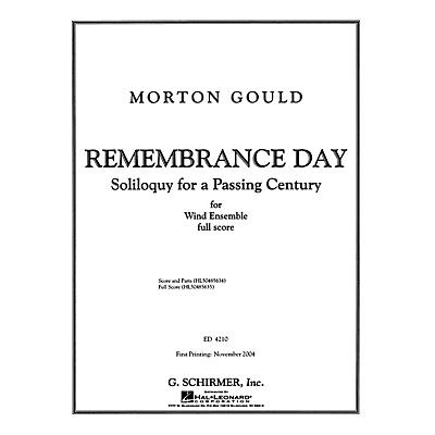 G. Schirmer Remembrance Day - Full Score Concert Band