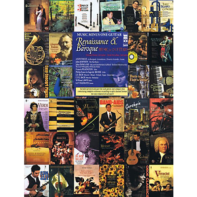 Music Minus One Renaissance & Baroque Music for 2 Guitars Music Minus One Series Softcover with CD