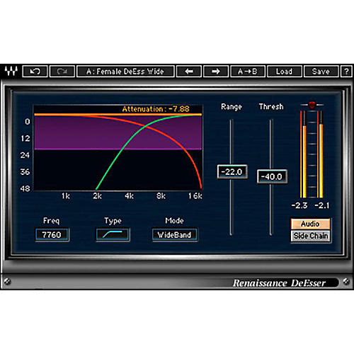 Waves Renaissance DeEsser Native/TDM/SG Software Download