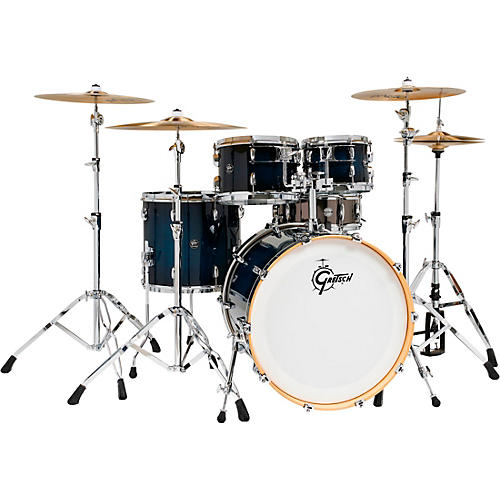 Gretsch Drums Renown 5-Piece Shell Pack with 22 in. Bass Drum and Black Nickel Over Steel Snare Drum