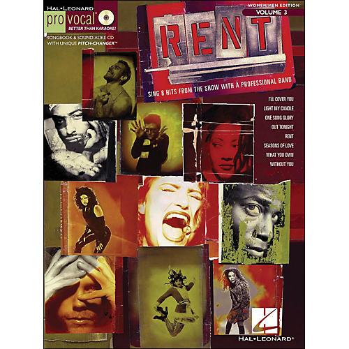 Hal Leonard Rent - Pro Vocal Series Songbook & CD for Women/Men Volume 3