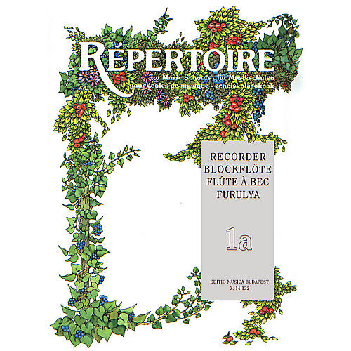Editio Musica Budapest Repertoire for the Recorder - Volume 1A EMB Series
