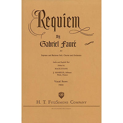 Fred Bock Music Requiem SATB composed by Gabriel Fauré