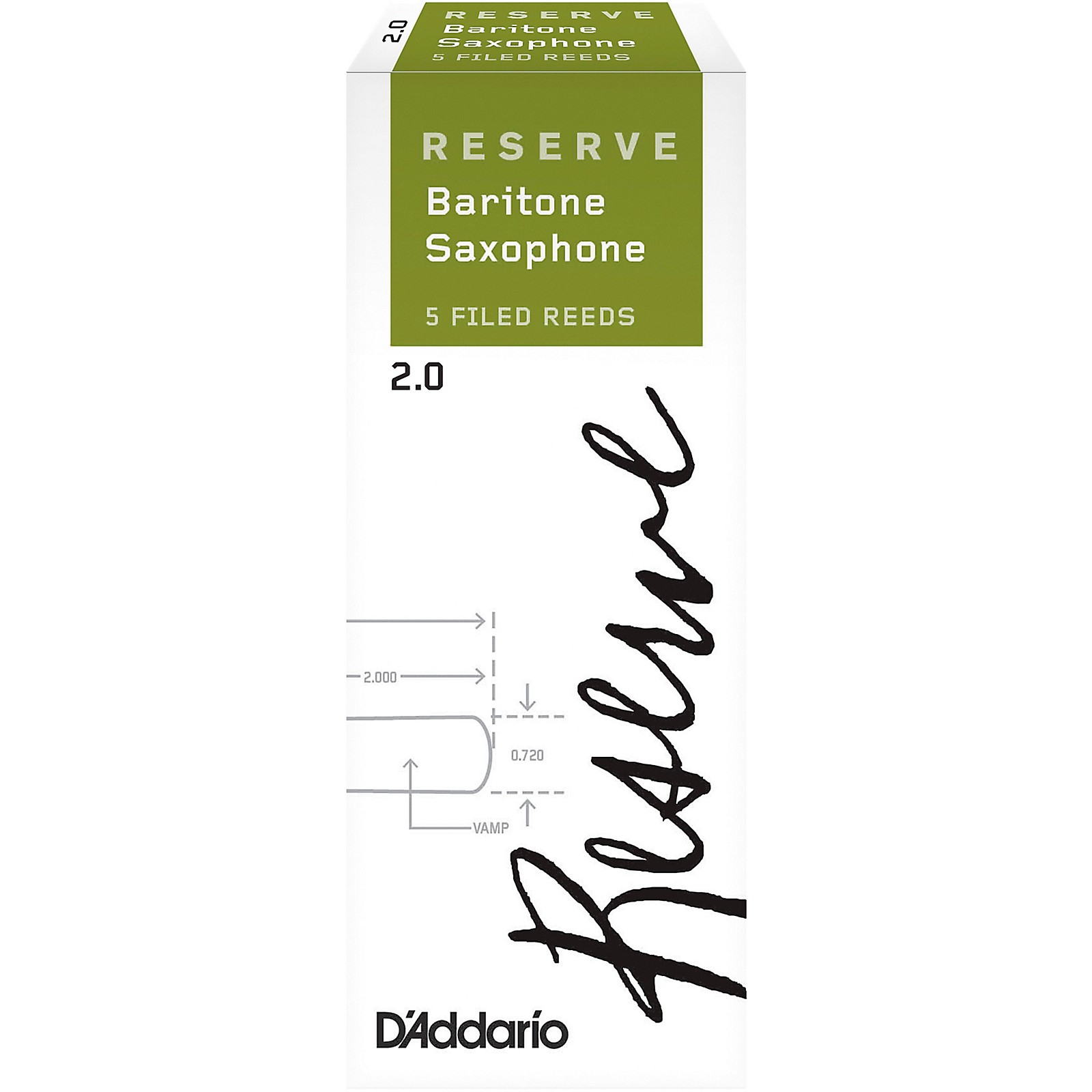 D'Addario Woodwinds Reserve Baritone Saxophone Reeds, 5-Pack
