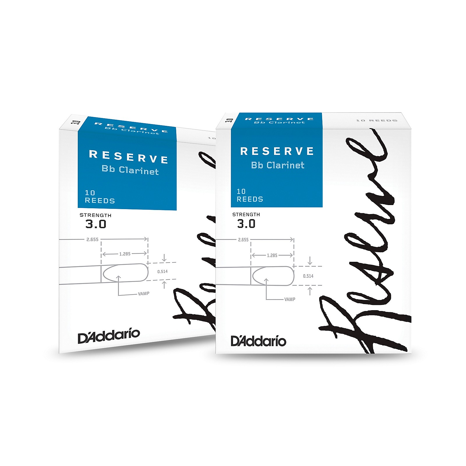 D'Addario Woodwinds Reserve Bb Clarinet Reeds 10-Pack, 2 Box Special