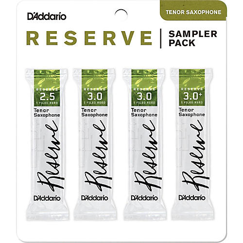 D'Addario Woodwinds Reserve Reed Sampler Packs, Tenor Saxophone