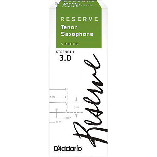 D'Addario Woodwinds Reserve Tenor Saxophone Reeds 5-Pack Strength 3