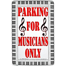 AIM Reserved Parking For Musicians Only Sign