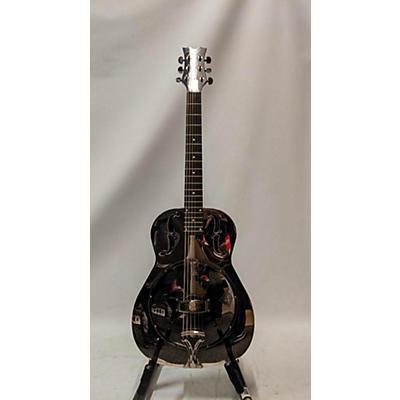 Dean Resonater Chrome Acoustic Guitar