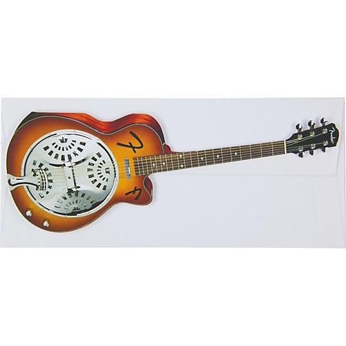 Fender Resonator Greeting Card