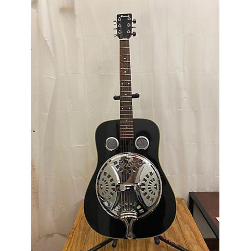 Morrell Music Resonator Guitar Acoustic Guitar Black