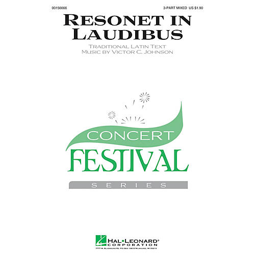 Hal Leonard Resonet in Laudibus 3-Part Mixed composed by Victor C. Johnson
