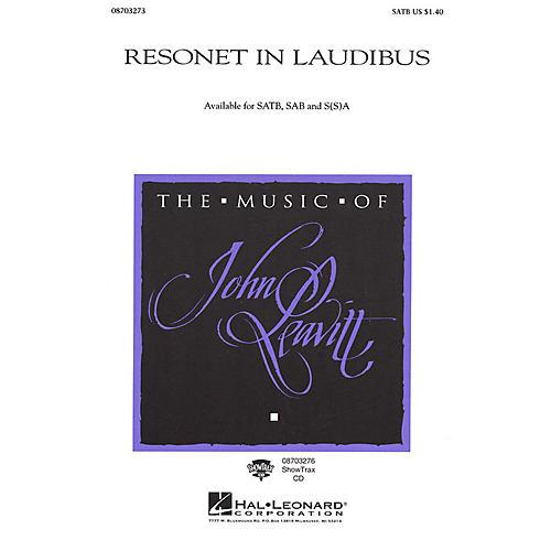 Hal Leonard Resonet in Laudibus SATB arranged by John Leavitt