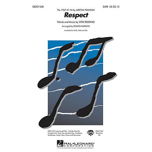 Hal Leonard Respect SAB by Aretha Franklin Arranged by R Emerson