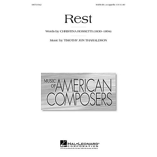 Hal Leonard Rest SATB DV A Cappella composed by Timothy Tharaldson