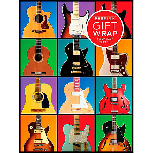 Hal Leonard Retro Guitar Wrapping Paper