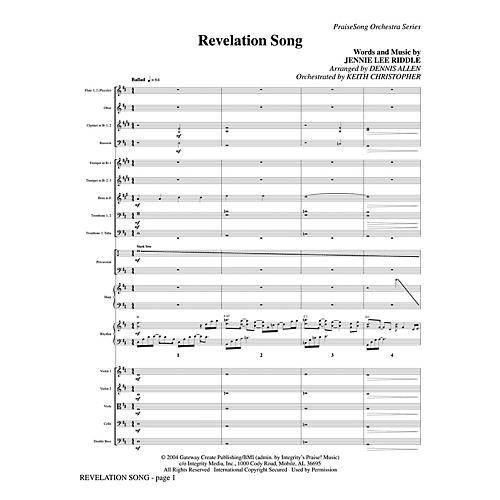 PraiseSong Revelation Song Orchestra arranged by Keith Christopher