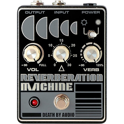 Death By Audio Reverberation Machine Reverb Effects Pedal Silver on Black