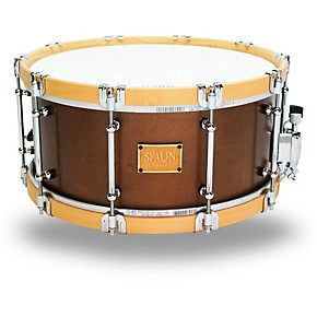 spaun revolutionary wood hoop snare drum 14 x 6 5 in tobacco satin lacquer musician 39 s friend. Black Bedroom Furniture Sets. Home Design Ideas