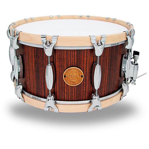 spaun revolutionary wood hoop snare drum 14 x 7 in caramel zebrawood musician 39 s friend