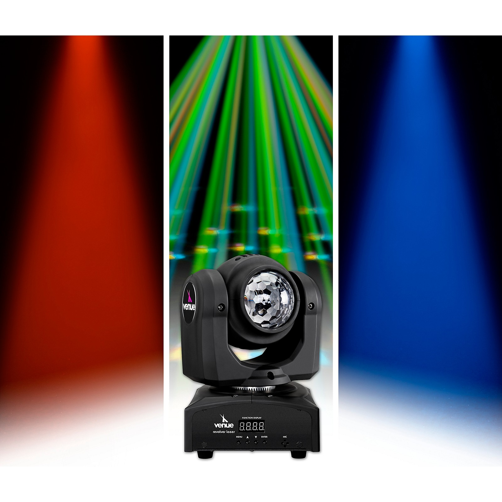 Venue Revolver Wash Dual-Sided Moving Head Effect Light with Wash and Moonflower