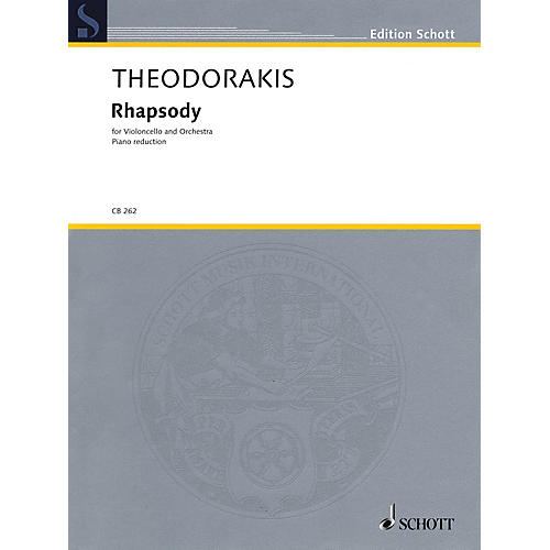 Schott Rhapsody (Cello and Piano Reduction) String Series Softcover