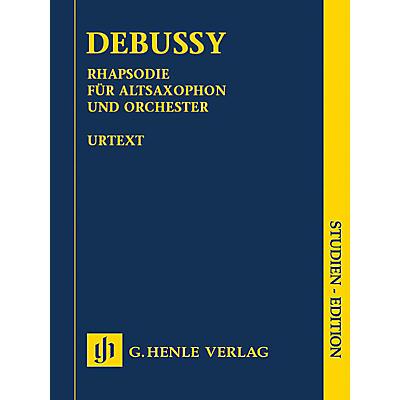 G. Henle Verlag Rhapsody for Alto Saxophone and Orchestra Henle Study Scores by Debussy Edited by Ernst-Gunter Heinemann