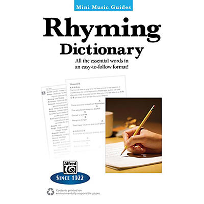 Alfred Rhyming Dictionary Mini Music Guides Book