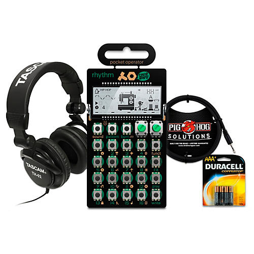 Teenage Engineering Rhythm Pocket Operator with Batteries, Headphones and Cable