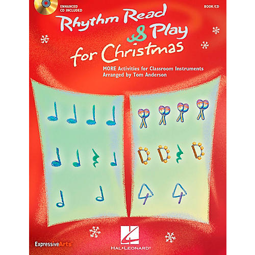 Hal Leonard Rhythm Read And Play For Christmas - MORE Activities for Classroom Instruments Book/CD
