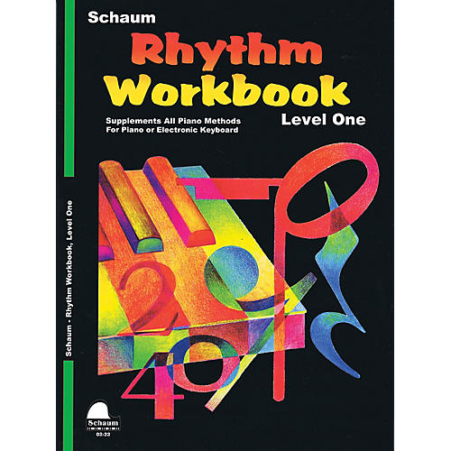 SCHAUM Rhythm Workbook (Level 1) Educational Piano Book by Wesley Schaum (Level Late Elem)