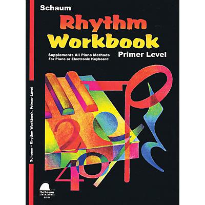 SCHAUM Rhythm Workbook (Primer) Educational Piano Book by Wesley Schaum (Level Elem)