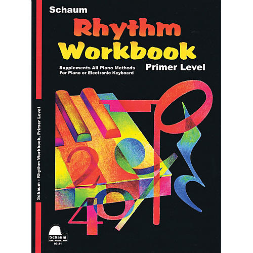 SCHAUM Rhythm Workbook (Primer) Educational Piano Book by Wesley Schaum (Level Elem)
