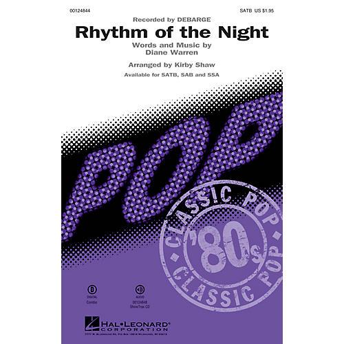 Hal Leonard Rhythm of the Night SAB by DeBarge Arranged by Kirby Shaw