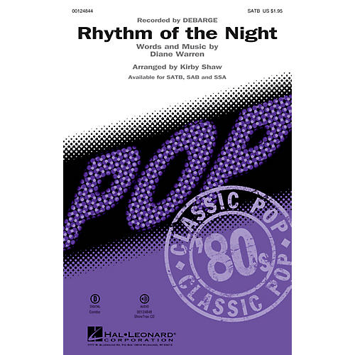 Hal Leonard Rhythm of the Night SATB by DeBarge arranged by Kirby Shaw