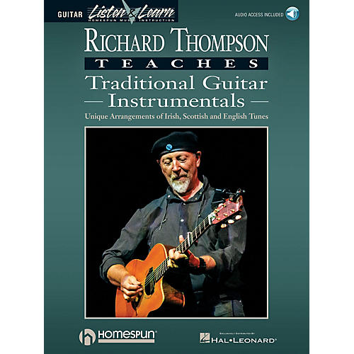 Homespun Richard Thompson Teaches Traditional Guitar Instrumentals Softcover Audio Online by Richard Thompson