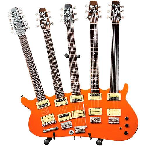 Hal Leonard Rick Nielsen 5-Neck Orange Monster Model Miniature Guitar Replica