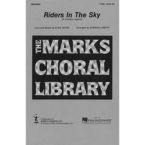 Hal Leonard Riders in the Sky TTBB arranged by Norman Luboff