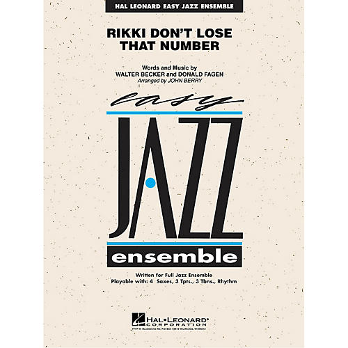 Hal Leonard Rikki Don't Lose That Number Jazz Band Level 2 by Steely Dan Arranged by John Berry