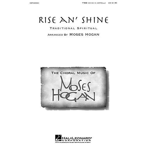Hal Leonard Rise An' Shine TTBB A Cappella arranged by Moses Hogan