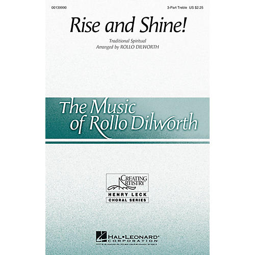 Hal Leonard Rise and Shine! 3 Part Treble arranged by Rollo Dilworth