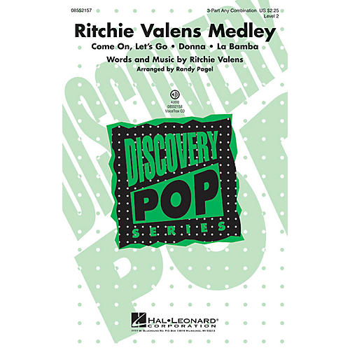 Hal Leonard Ritchie Valens Medley (Discovery Level 2) VoiceTrax CD by Ritchie Valens Arranged by Randy Pagel