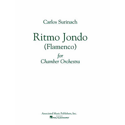 Associated Ritmo Jondo (Flamenco Ballet) (Study Score) Study Score Series Composed by Carlos Surinach