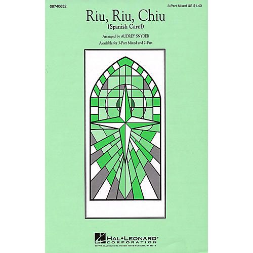 Hal Leonard Riu, Riu, Chiu 2-Part Arranged by Audrey Snyder