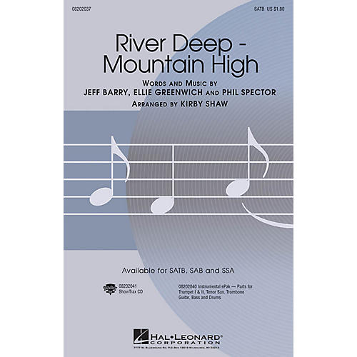 Hal Leonard River Deep - Mountain High SAB by Tina Turner Arranged by Kirby Shaw