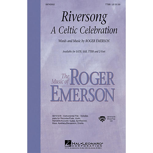 Hal Leonard Riversong (A Celtic Celebration) TTBB composed by Roger Emerson